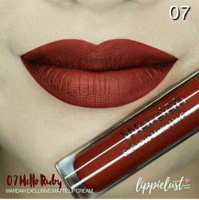 Wardah Exclusive Matte Lip Cream 07 Hello Ruby