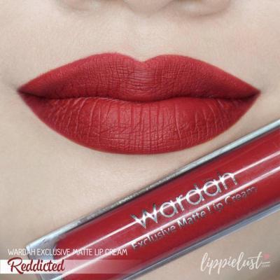 Wardah Exclusive Matte Lip Cream 01 Reddicted