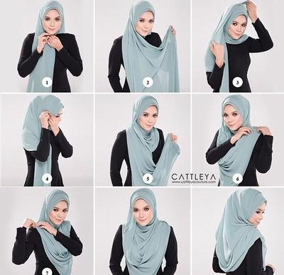 Mari Berhijab Tutorial Hijab Pashmina Menutup Dada