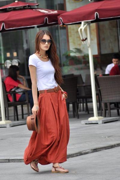 T-Shirt & Maxi Skirt