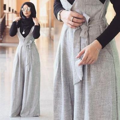 Dari Casual Sampai Formal, Begini Ide Padu Padan Model Outfit Overall Kekinian untuk Hijabers