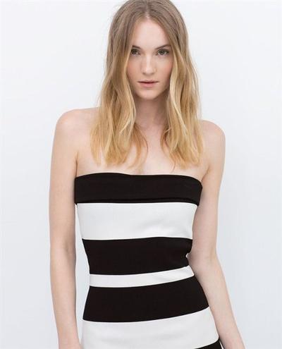 Kemben Dress Striped