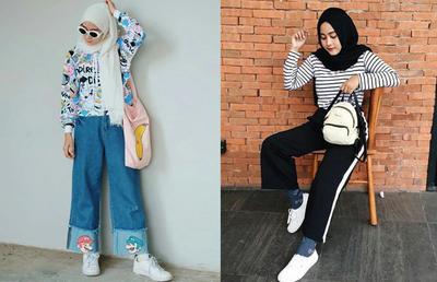Inspirasi Padu Padan Sneakers untuk Hijabers yang Bisa Dipakai Ngampus!