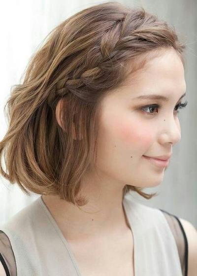 Headband Braided Hairstyle for Medium Hair