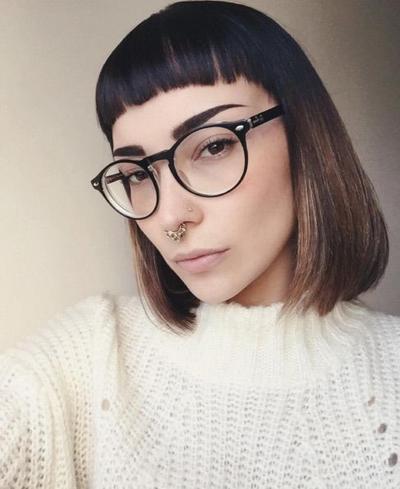 Very Short Bangs Hair Style
