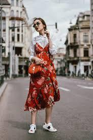 Midi Dress & Blouse