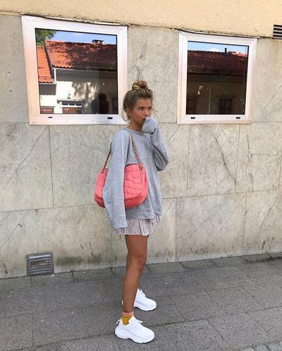 Sweater & Mini Skirt