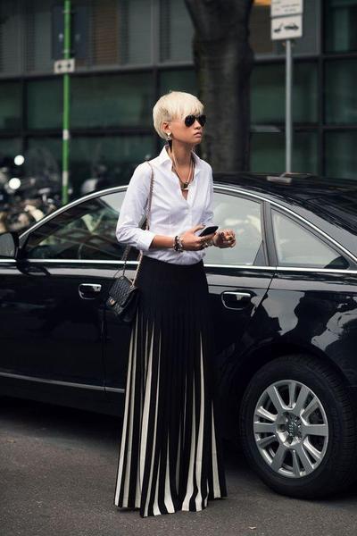 Kemeja & Pleated Skirt