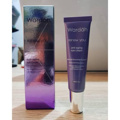 Wardah Renew You Anti Aging Eye Cream, Hilangkan Dark Circle dan Kerutan di Area Mata