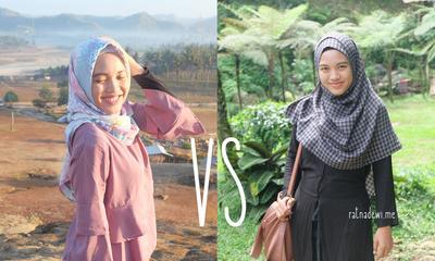 Kalau disuruh pilih, kamu tim hijab pashmina atau tim hijab segiempat?