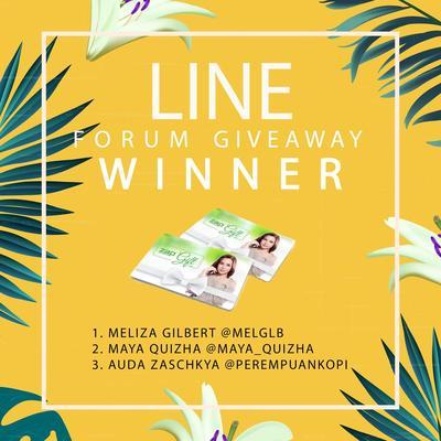[GIVEAWAY ALERT] Pemenang Line Forum Giveaway dengan Hadiah ZAP GIFT CARD Senilai Total Rp1.500.000