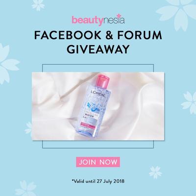 [GIVEAWAY ALERT] Mau L'oreal Micellar Water Gratis? Ikutan Facebook & Forum Giveaway Beautynesia!
