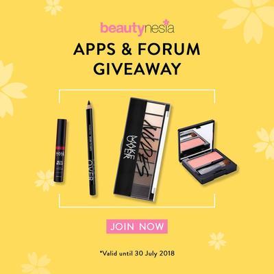 [GIVEAWAY ALERT] Beautynesia Apps &Forum Giveaway dengan Hadiah Paket Makeup Senilai Total Rp 2.000.000!