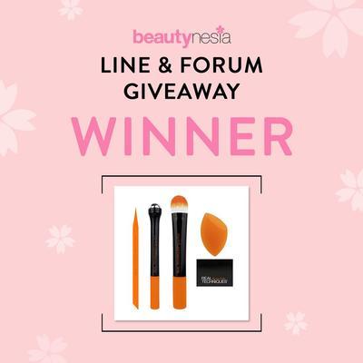 [GIVEAWAY ALERT] Pemenang Line & Forum Giveaway Berhadiah Brush Set Senilai Rp 1.300.000