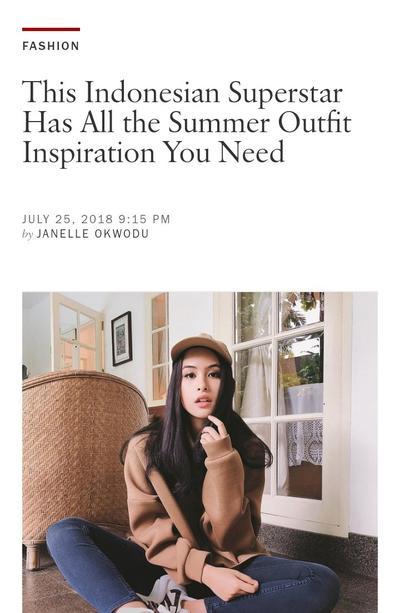 [FORUM] Gaya Maudy Ayunda Dipuji di Majalah Vogue, Menurut kalian gimana?