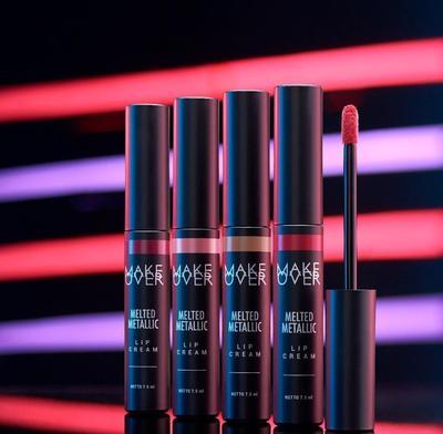 Review Make Over Melted Metallic Lip Cream, Lipstik Metalic Lokal Terbaik yang Perlu Kamu Coba!