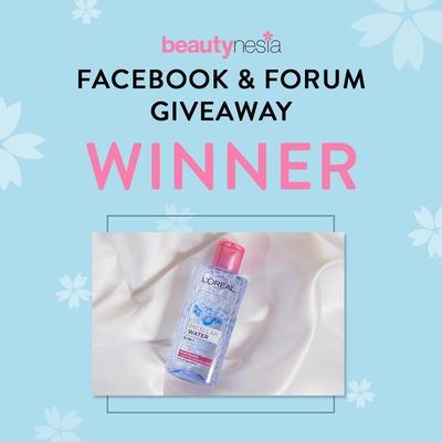 [GIVEAWAY ALERT] Pemenang Facebook & Forum Giveaway Berhadiah L'oreal Micellar Water