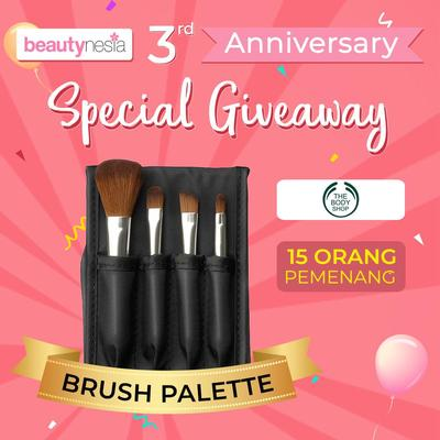[Anniversary Special Giveaway] Buat Riasan Mata yang Cantik dengan Brush Multifungsi Body Shop