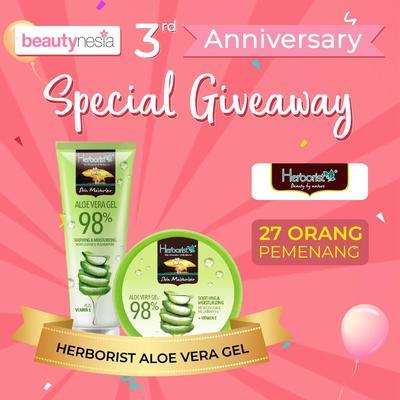 [Anniversary Special Giveaway] Yuk, Rasakan Sensasi Dingin Herborist Aloe Vera Gel