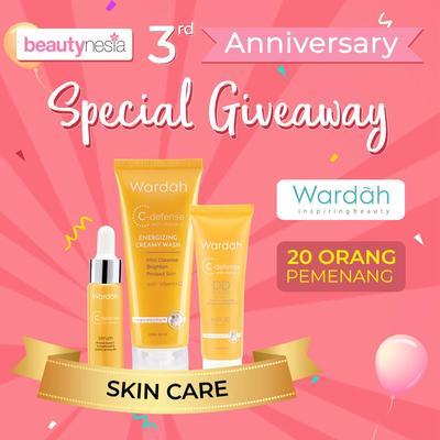 [Anniversary Special Giveaway] Atasi Masalah Kulit Wajah dengan Rangkaian Skin Care Wardah