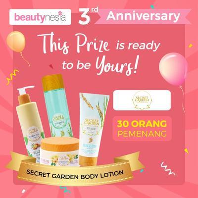 [Anniversary Special Giveaway] Mau Wajah Cerah Bebas Kusam? Coba Secret Garden Ekstrak Beras!