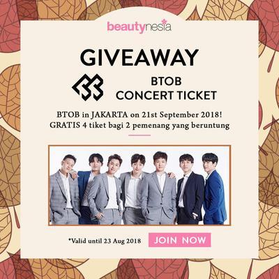 [GIVEAWAY ALERT] Beautynesia Bagi-bagi Tiket Konser BTOB Gratis! Yuk, Ikutan!