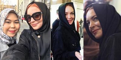 [FORUM] Lindsay Lohan berhijab nggak sih sebenarnya?