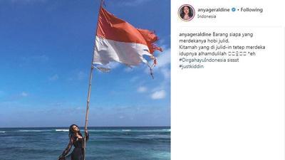 [FORUM] Duh, Anya Geraldine Tuai Kontroversi Gara-gara Bendera Merah Putih