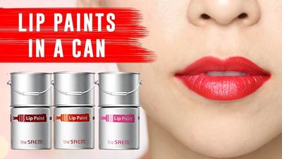 The Saem Lip Paint, Lipstik Korea Super Pigmented dengan Bentuk Tong Cat Nan Unik!