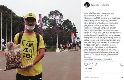 [FORUM] Gimana Menurut Kamu Soal Pria yang Pungut Puntung Rokok Selama Asian Games?