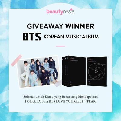 [GIVEAWAY ALERT] Ini 4 Orang yang Beruntung Dapatkan Hadiah Korean Album BTS, Selamat Ladies!