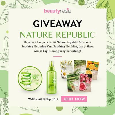 [GIVEAWAY ALERT] Mau Punya Kulit Cerah & Lembap? Yuk, Ikutan Giveaway Beautynesia Berhadiah Hampers Nature Republic