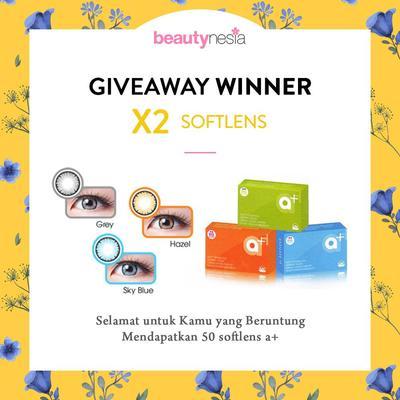 [GIVEAWAY ALERT] 25 Pemenang Giveaway Beautynesia X2 Softlens, Congratulation Ladies!