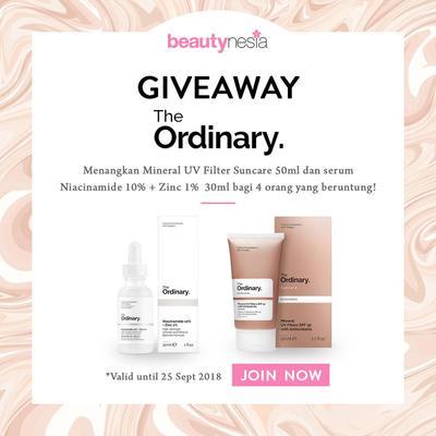 [GIVEAWAY ALERT] Lengkapi Skincare Kamu dengan The Ordinary dari Beautynesia, Yuk Ikutan Giveawaynya!