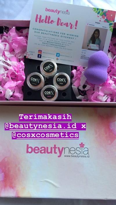 [FORUM] Terimakasih BeautynesiaxCOSX, aku dapat hadiah!