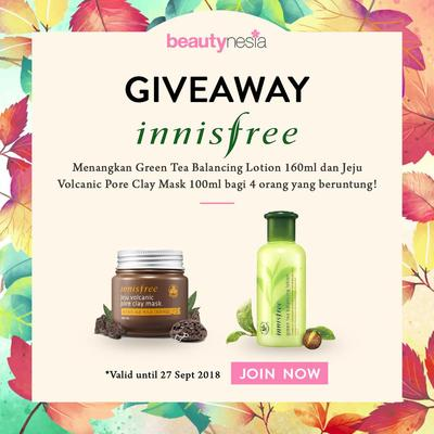 [GIVEAWAY ALERT] Mau Skincare Innisfree Gratis? Ikutan Giveaway Beautynesia Yuk!