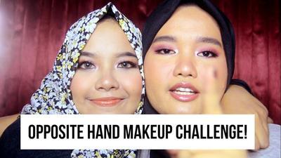 [FORUM] Opposite Hand Makeup Challenge, Ada yang udah coba?