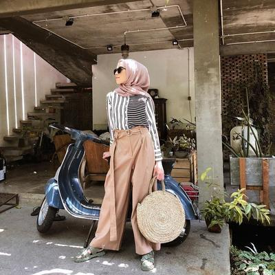 [FORUM] Fashion Hijab Two Tone Stripe Shirt Bikin Makin Stylish!