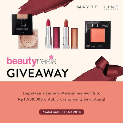 [GIVEAWAY ALERT] Mau Makeup Maybelline Gratis? Yuk, Ikutan Beautynesia Giveaway Ladies!