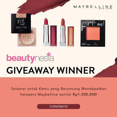 [GIVEAWAY ALERT] 5 Pemenang yang Beruntung Dapat Makeup Maybelline Gratis!