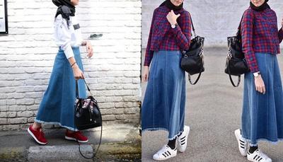 [FORUM] Pakai rok panjang buat ke kampus, bagusnya dikombinasikan dengan apa ya?