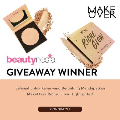 [GIVEAWAY ALERT] Pemenang Beautynesia Giveaway Berhadiah Make Over Riche Glow Highlighter