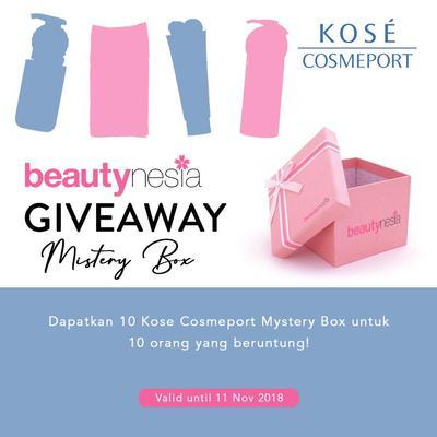 [GIVEAWAY ALERT] Mystery Box Kose Cosmeport , Tebak Produknya dan Dapatkan Hadiahnya!