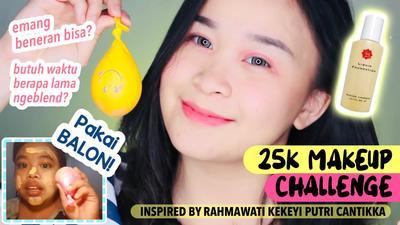 [FORUM] Semenjak tutorial makeup Rahmawati Kekeyi viral, balon isi air bisa ngeblend foundation beneran?