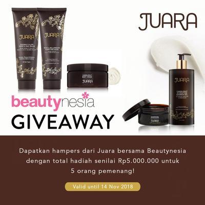 [GIVEAWAY ALERT] JUARA, Brand Perawatan Kulit Asal Amerika Berbahan Baku Kecantikan Indonesia