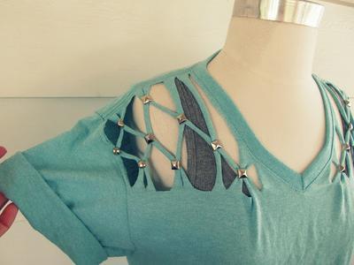 DIY Cut Out Kaus/Kemeja yang Cute Banget