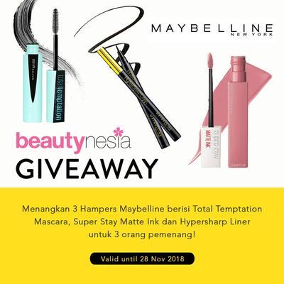 [GIVEAWAY ALERT] Mau Makeup Maybelline Gratis dari Beautynesia? Ikutan Giveawaynya Yuk!