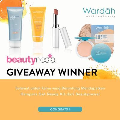 [GIVEAWAY ALERT] 5 Pemenang Giveaway Berhadiah Hampers Get Ready Kit Wardah Gratis!