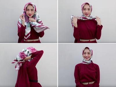 Ladies, Ini 4 Cara Memakai Hijab Segitiga agar Tampilan Lebih Stylish!