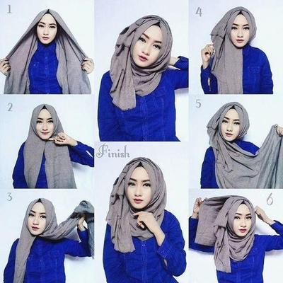 Hijab Segitiga Untuk Pesta